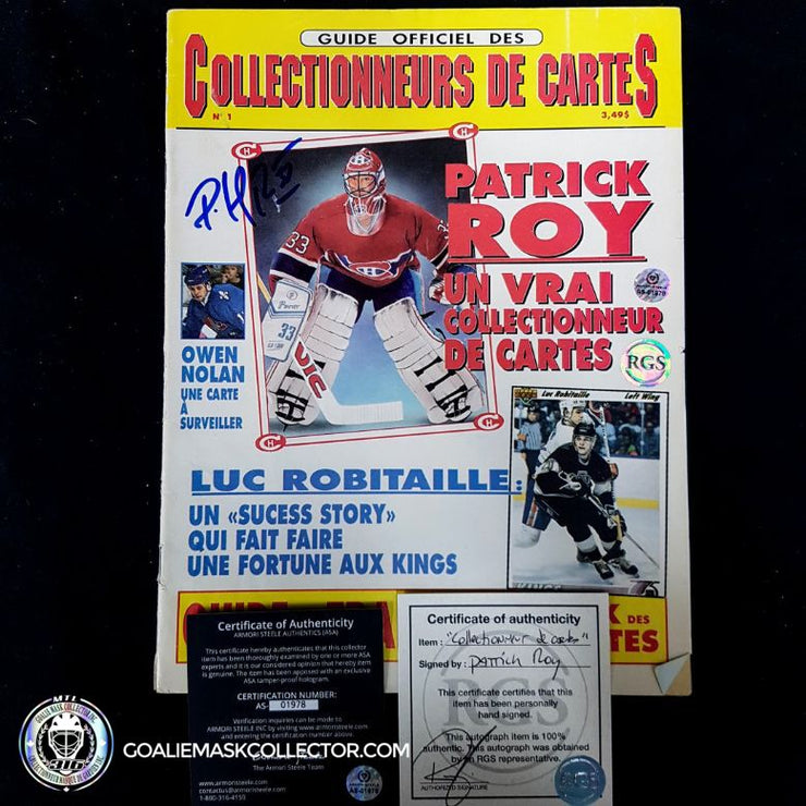 Patrick Roy Signed Le Collectionneur De Cartes Magazine