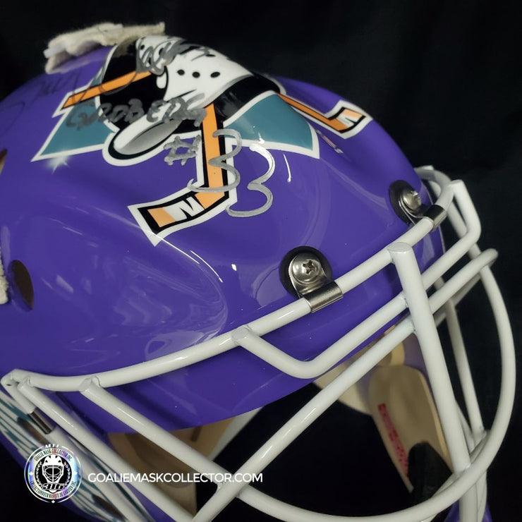 Goldberg aka Shaun Weiss Signed Goalie Mask Mighty Ducks D2 Autographed Signature Edition