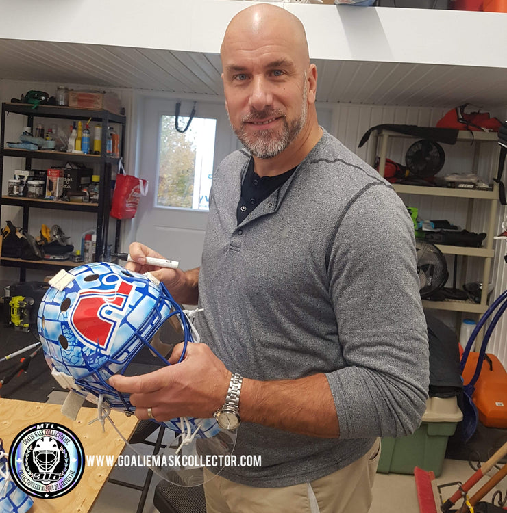 Pre-Sale: Stephane Fiset Signed Goalie Mask Quebec Signature Edition Autographed Tribute