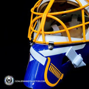 Tom Barrasso Signed Goalie Mask Buffalo Autographed Signature Edition