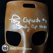 TONY ESPOSITO SIGNED VINTAGE GOALIE MASK AUTOGRAPHED MONTREAL AS EDITION