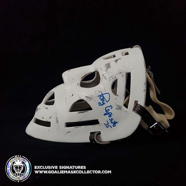 TONY ESPOSITO SIGNED VINTAGE GOALIE MASK AUTOGRAPHED CHICAGO AS EDITION