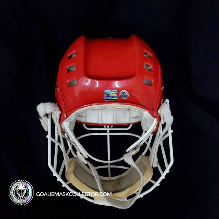 VLADISLAV TRETIAK SIGNED GOALIE MASK TEAM RUSSIA COOPER SK-600 AUTOGRAPHED AS EDITION