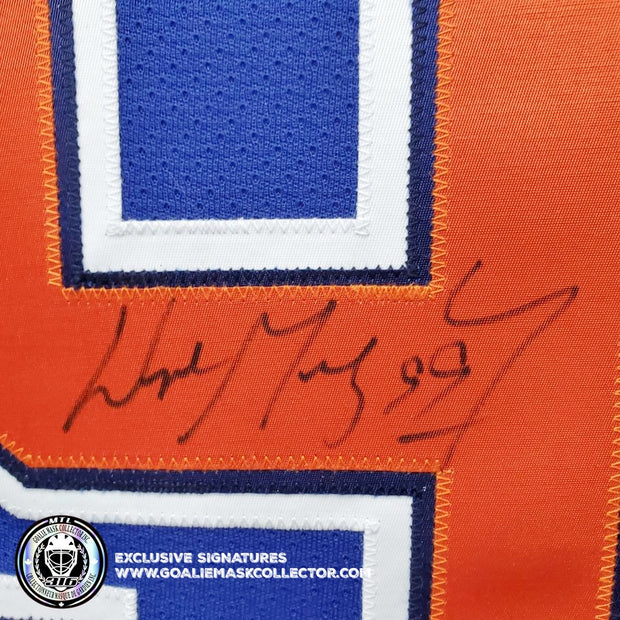 WAYNE GRETZKY ART EDITION SIGNED JERSEY HAND-PAINTED EDMONTON OILERS WGA AUTOGRAPHED