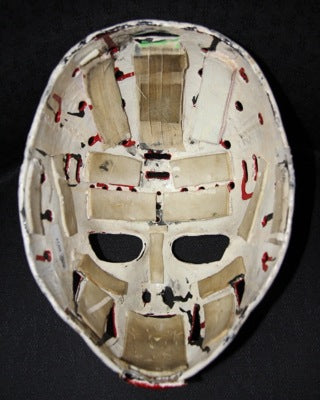 DOUG FAVELL GOALIE MASK GAME USED WORN 1970 PHILADELPHIA FLYERS 1ST EVER PAINTED MASK IN NHL HISTORY