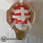 TIM CHEVELDAE UN-SIGNED GOALIE MASK DETROIT RED EDITION
