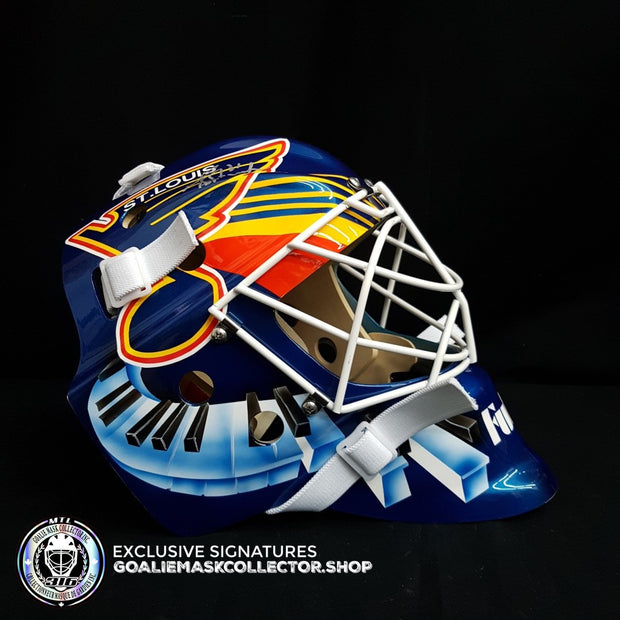 GRANT FUHR UN-SIGNED GOALIE MASK ST-LOUIS EDITION