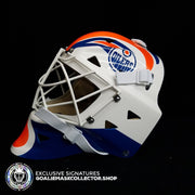 GRANT FUHR UN-SIGNED GOALIE MASK EDMONTON EDITION