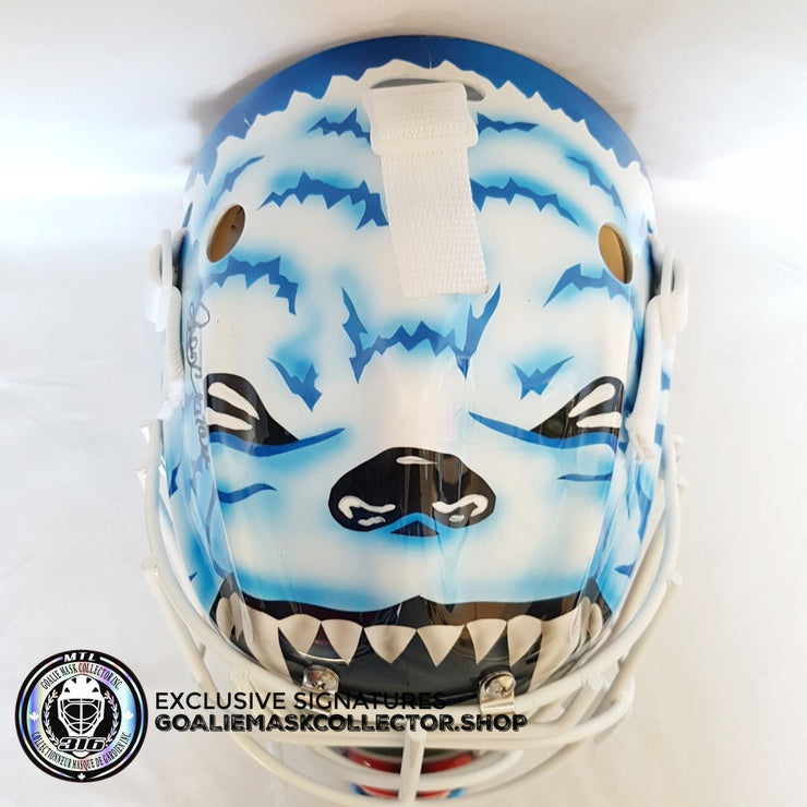RON HEXTALL UN-SIGNED GOALIE MASK QUEBEC EDITION