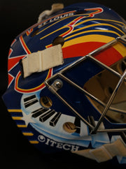 "GRANT FUHR GAME USED WORN GOALIE MASK ST-LOUIS BLUES 1996-97 ""SUNDIN SLAP SHOT"""