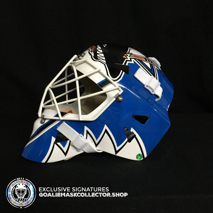 MIKE VERNON SIGNED AUTOGRAPHED GOALIE MASK SAN JOSE AS EDITION