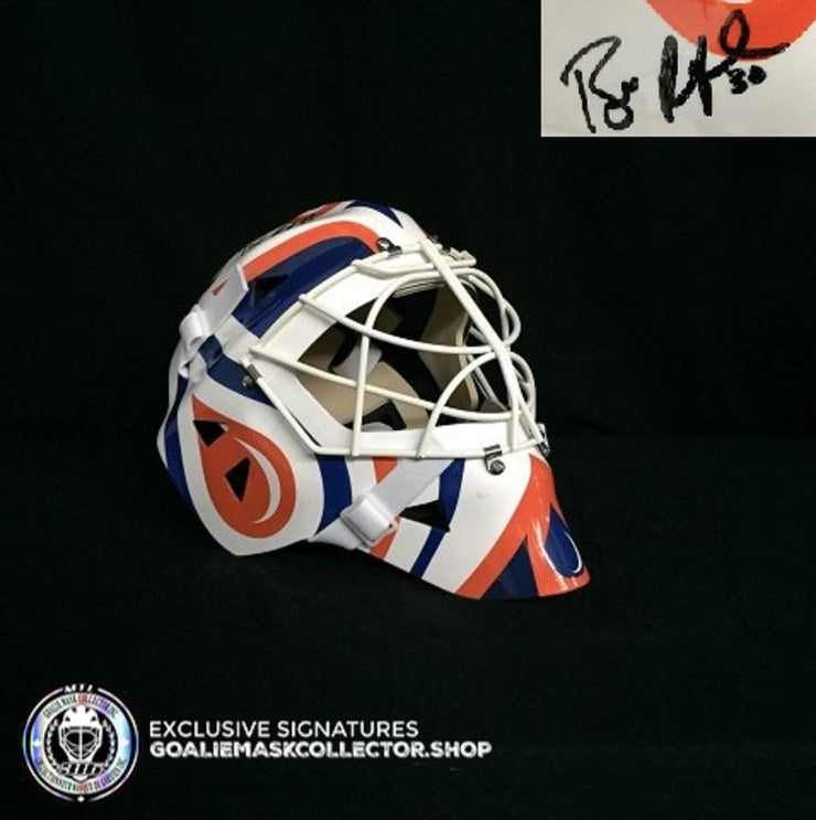 BILL RANFORD SIGNED AUTOGRAPHED GOALIE MASK EDMONTON 1990 STANLEY CUP AS EDITION