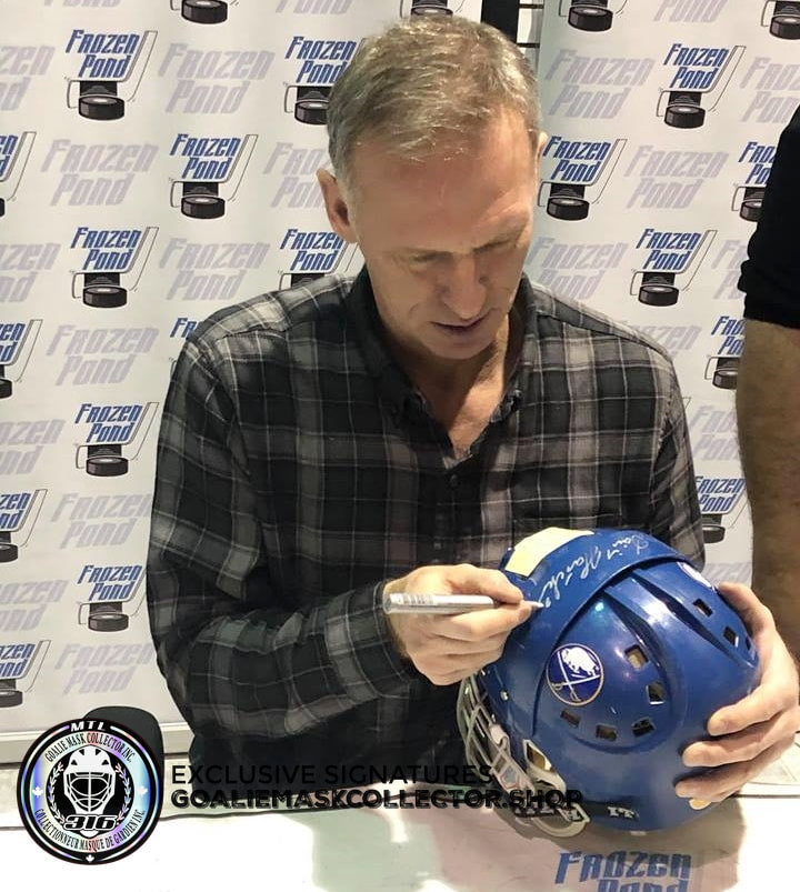 DOMINIK HASEK SIGNED AUTOGRAPHED GOALIE MASK BUFFALO BLUE COOPER SK EDITION