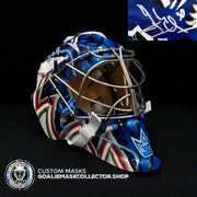 HENRIK LUNDQVIST SIGNED AUTOGRAPHED GOALIE MASK NEW YORK 2019 AS NY BLUE EDITION - STEINER SPORTS