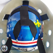 HENRIK LUNDQVIST SIGNED AUTOGRAPHED GOALIE MASK NEW YORK - DISPLAY