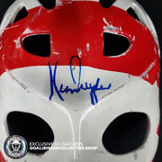 KEN DRYDEN SIGNED AUTOGRAPHED GOALIE MASK BULLSEYE MONTREAL TRIBUTE 70'S VINTAGE BY DON SCOTT