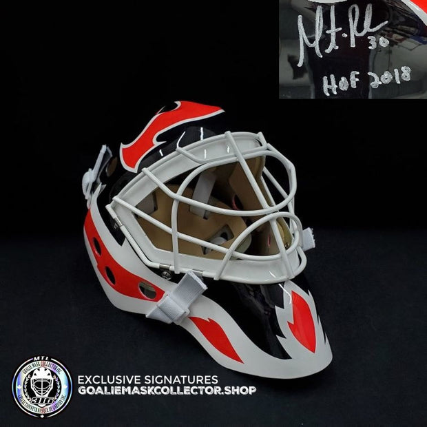 "MARTIN BRODEUR SIGNED AUTOGRAPHED GOALIE MASK ""HOF 2018"" NEW JERSEY  AS EDITION"