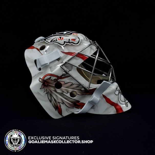 COREY CRAWFORD SIGNED AUTOGRAPHED GOALIE MASK WHITE CHICAGO TRIBUTE AS Edition