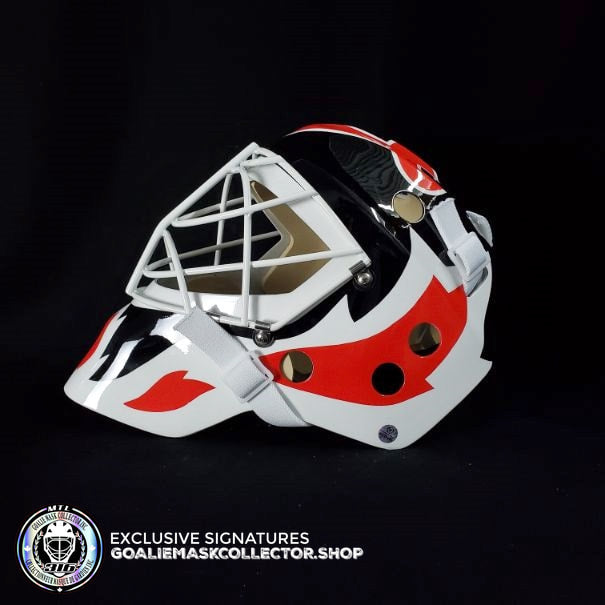 MARTIN BRODEUR SIGNED AUTOGRAPHED GOALIE MASK NEW JERSEY VINYL AS EDITION