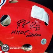 "PATRICK ROY SIGNED ""HHOF 2006"" INSCRIPTION AUTOGRAPHED GOALIE MASK MONTREAL AS EDITION"