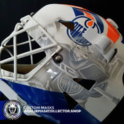 "PRE-SALE: GRANT FUHR SIGNED AUTOGRAPHED GOALIE MASK EDMONTON TRIBUTE AS EDITION  ""Making Coco"" Las Vegas Premiere"