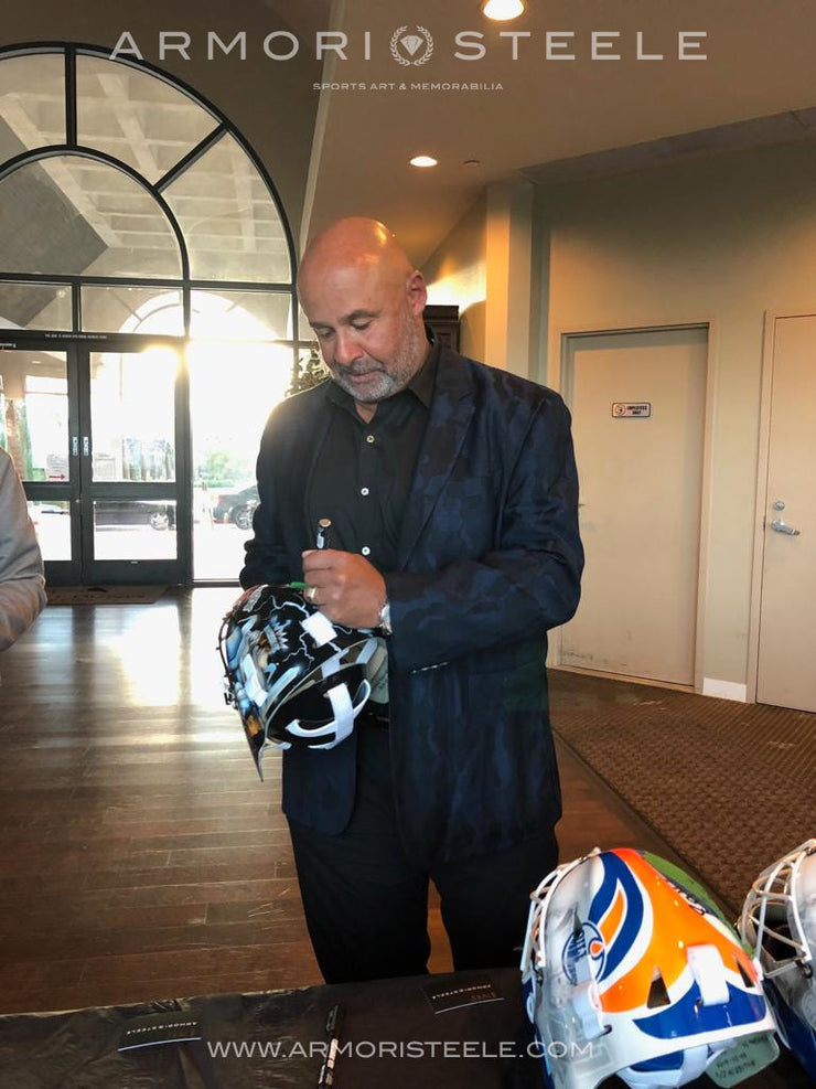 PRE-SALE: GRANT FUHR SIGNED AUTOGRAPHED GOALIE MASK LOS ANGELES AS EDITION