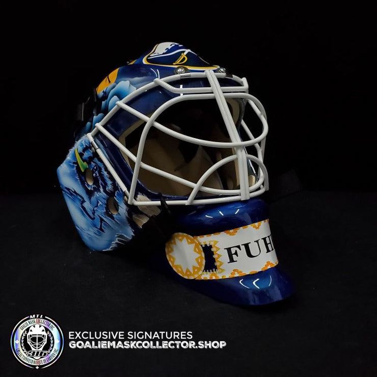PRE-SALE: GRANT FUHR SIGNED AUTOGRAPHED GOALIE MASK BUFFALO AS EDITION
