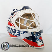 MIKE RICHTER UN-SIGNED GOALIE MASK NEW YORK