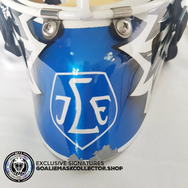 ED BELFOUR GAME WORN GOALIE MASK SWEDISH LEKSANDS IF WARWICK 2007-08
