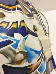 PEKKA RINNE NHL GAME WORN GOALIE MASK NASHVILLE PREDATORS 2009-2010