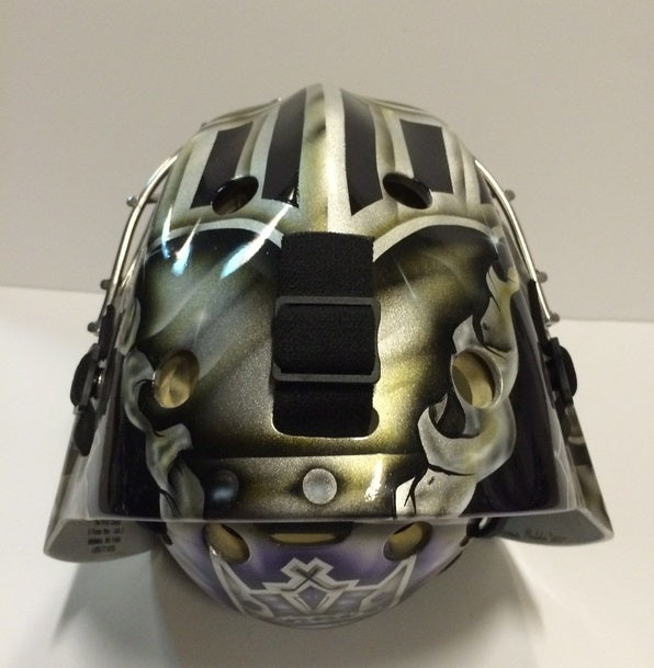 JONATHAN QUICK PRACTICE WORN NHL GOALIE MASK STANLEY CUP SEASON 2011-2012