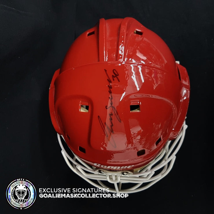CHRIS OSGOOD SIGNED AUTOGRAPHED GOALIE MASK DETROIT COA - ICE READY - USED