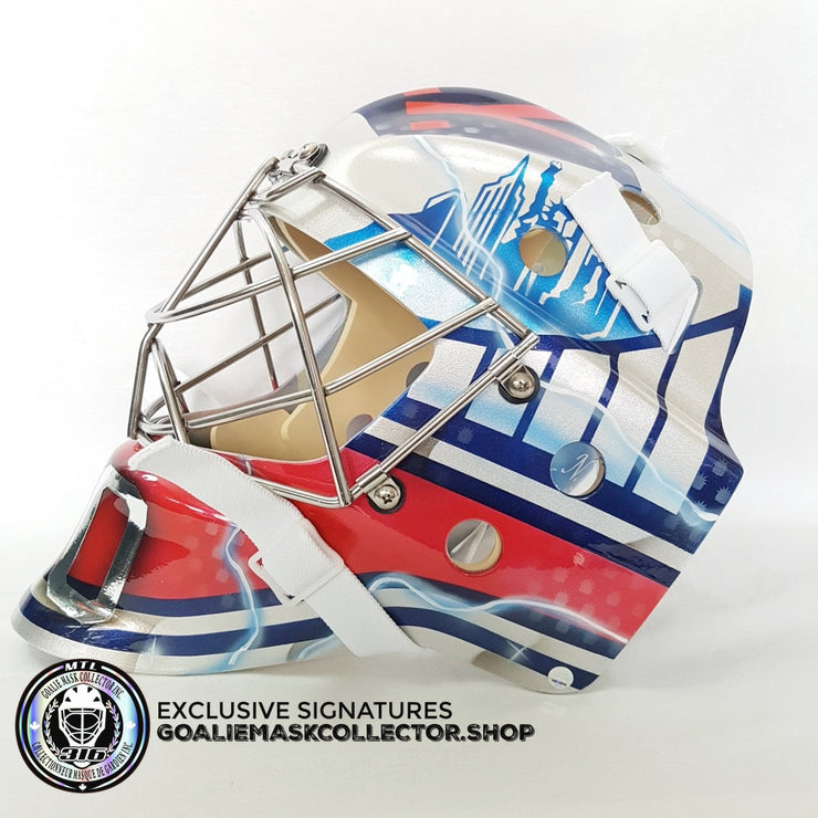 HENRIK LUNDQVIST SIGNED AUTOGRAPHED GOALIE MASK NEW YORK WINTER EDITION - 2018