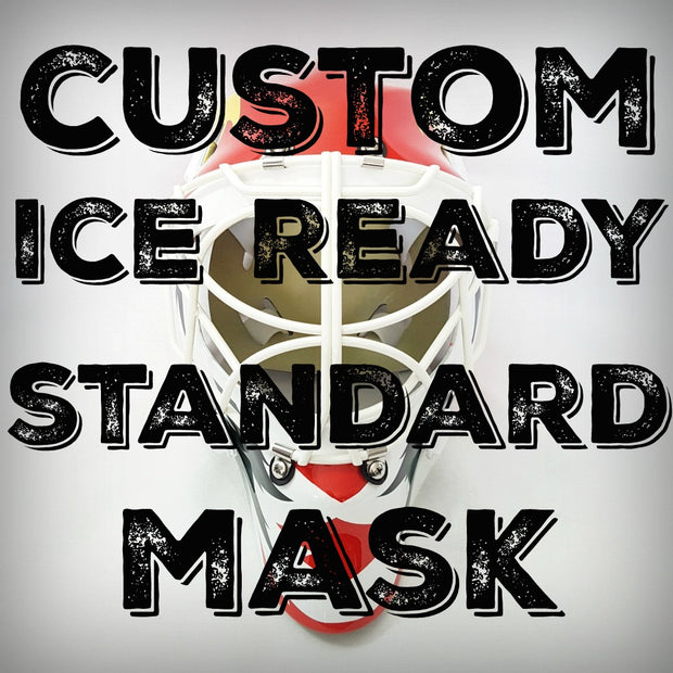 CUSTOM ORDER GOALIE MASK - AIRBRUSH - ICE READY STANDARD SHELL