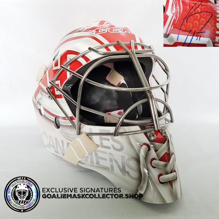 CAREY PRICE SIGNED AUTOGRAPHED GOALIE MASK MONTREAL  2017-2018 Edition - 557 Record Career Games - Ice Ready
