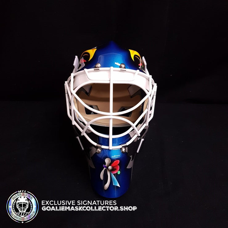 ED BELFOUR  UN-SIGNED GOALIE MASK TORONTO BLUE EAGLE EDITION