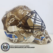 PATRICK ROY SIGNED AUTOGRAPHED GOALIE MASK MONTREAL GREATEST BLACK AND WHITE - SPECIAL 1/1