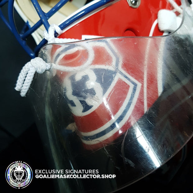 "PATRICK ROY PRACTICE WORN GOALIE MASK ""NOT GAME"" USED MONTREAL CANADIENS 1994 LEFEBVRE SHELL"