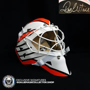 RON HEXTALL SIGNED AUTOGRAPHED GOALIE MASK PHILADELPHIA Ice Ready AS Edition