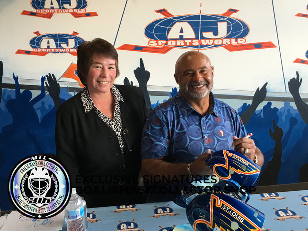 PRESALE: GRANT FUHR SIGNED AUTOGRAPHED GOALIE MASK ST-LOUIS AS EDITION