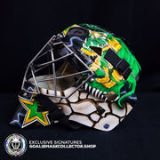 MARTY TURCO SIGNED AUTOGRAPHED GOALIE MASK DALLAS DUO AS EDITION