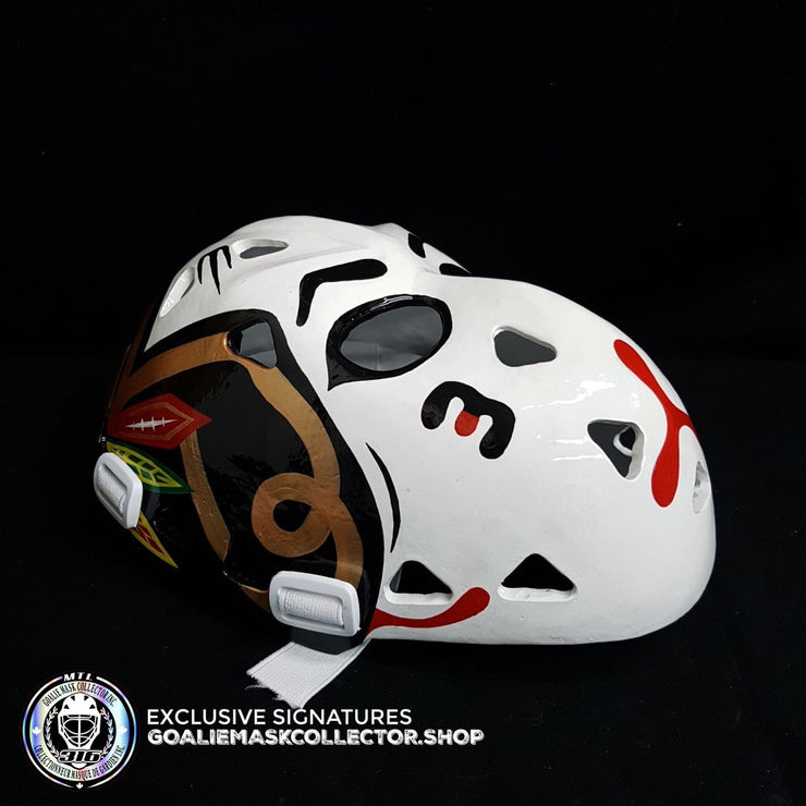MURRAY BANNERMAN SIGNED AUTOGRAPHED GOALIE MASK CHICAGO AS EDITION