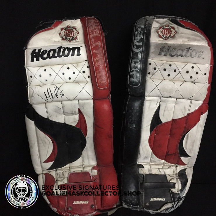 Martin Brodeur SIGNED Autographed  Heaton Helite IV Goalie Pads Glove Trapper Blocker Set Adult Senior Size