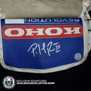 PATRICK ROY 1993 SIGNED KOHO REVOLUTION GLOVE TRAPPER BLOCKER - NOT GAME USED BY ROY / USED MODELS