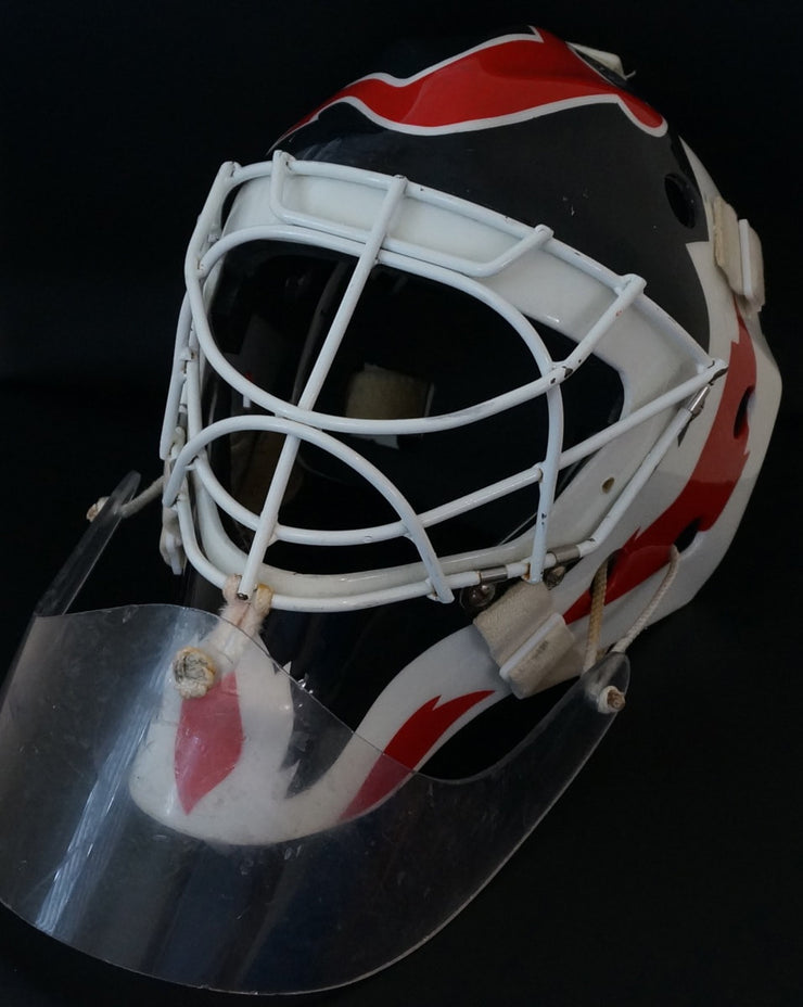 MARTIN BRODEUR GAME WORN USED GOALIE MASK NEW JERSEY DEVILS  Photo Match for 6 SEASONS + 4 VEZINA + 1 STANLEY CUP