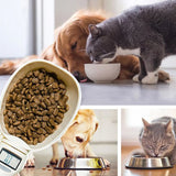 Portable Pet Food Scale Cup with Led Display for Dogs and Cats