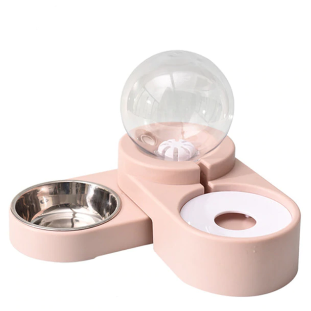 1.8L Water Fountain and Automatic Pet Bowl Feeder