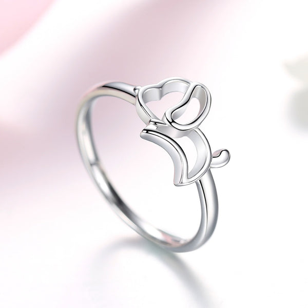 2019 Brand New Collection Silver Dog Ring for Women