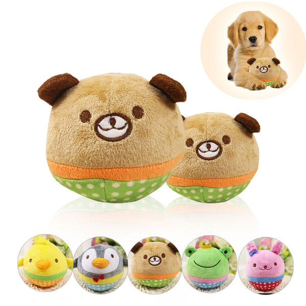 Funny Animal Squeaky Plush for Small Dogs