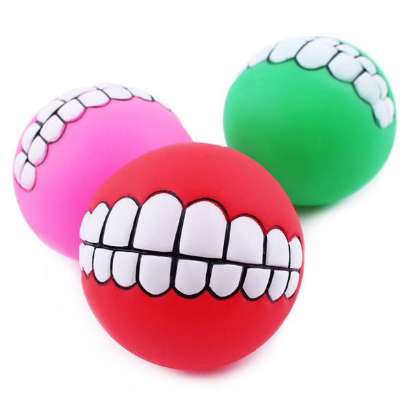 Durable Smiling Teeth Ball for Dogs